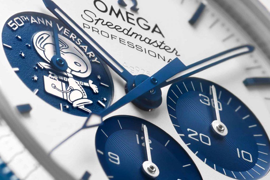 Omega Speedmaster Silver Snoopy 50th Anniversary Replica