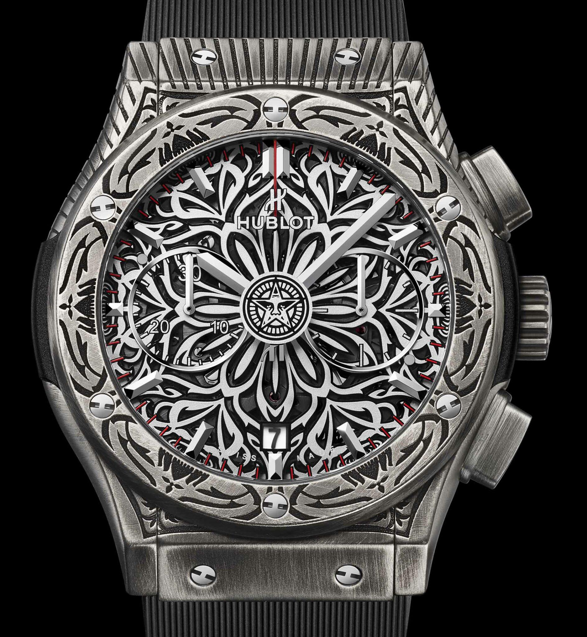 Hublot Classic Fusion Chronograph Shepard Fairey Reloj Replica De Limited Edition